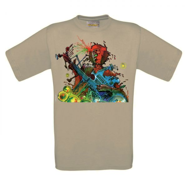 BD-Shirt.Art - Tee-shirt Hendrix beige Druillet