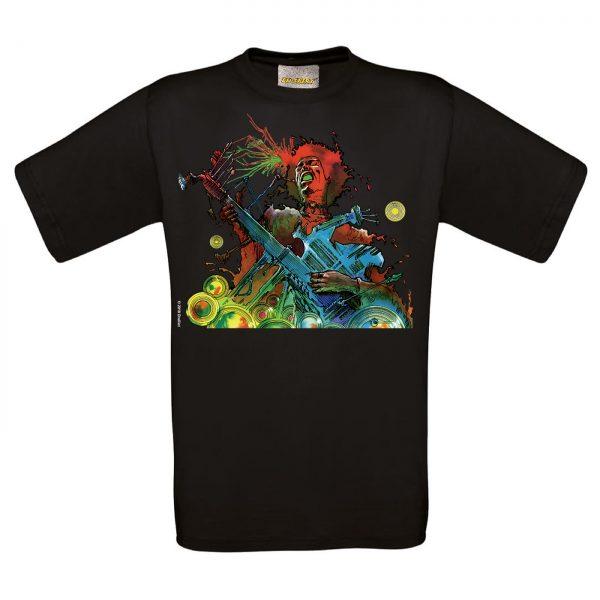 BD-Shirt.Art - Tee-shirt Hendrix noir Druillet