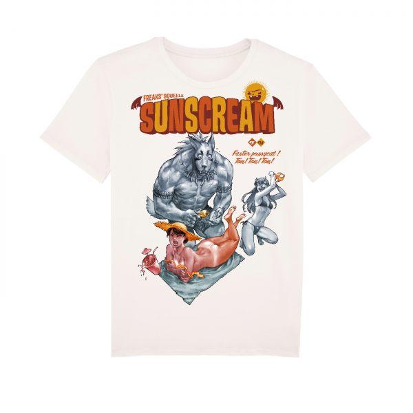 BD-Shirt.Art - Tee-shirt Freaks' Squeele Sunscream blanc Maudroux Label 619