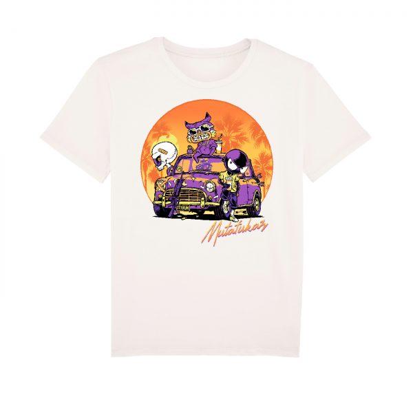 BD-Shirt.Art - Tee-shirt Mutafukaz Sunset California blanc Run Label 619